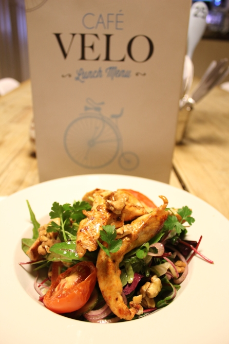 Our chicken salad with roasted nuts & home made honey dressing.