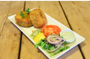 Velo Crab Cakes, made in-house of course !!
